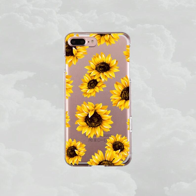 new arrivals b4187 65d45 Sunflowers.iPhone X case.iPhone 7 case.iPhone 7 Plus case.iPhone 8  case.iPhone 8 Plus case.iPhone 6s case.iPhone 6s Plus.Clear case.Floral