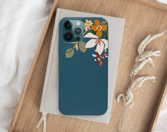 Floral iPhone 13 case 6.1 Nature iPhone 13 Pro case Aesthetic iPhone 13 Pro Max case Biodegradable Eco-friendly CaseiPhone 13 Mini Flower 12