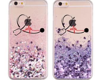 Nurse iPhone case | Sparkly Nurse case | iPhone 11 12 case | iPhone 11 Pro case | iPhone 12 Pro Max case iPhone XR X 8 Gift Nurse Nursing RN