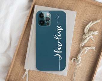iPhone 13 Pro Max case Personalized Name on Biodegradable Eco-friendly Phone Case iPhone 13 case 6.1 13 Pro Midnight Pacific Blue Phone case
