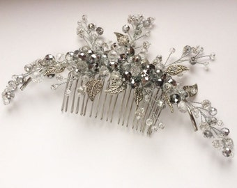 Wedding bridal headpiece, Crystal hair comb Comb, Hair Comb, Bridal hair comb, Wedding hair comb