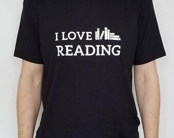 I Love Reading (book motif) -- T-Shirt