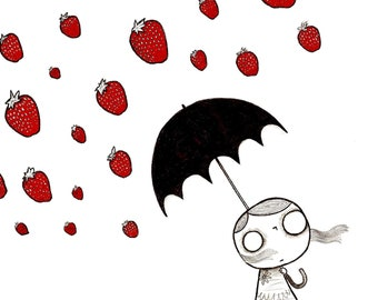Strawberry Rain - Print