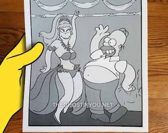 Homer's Night Out - reproduction print