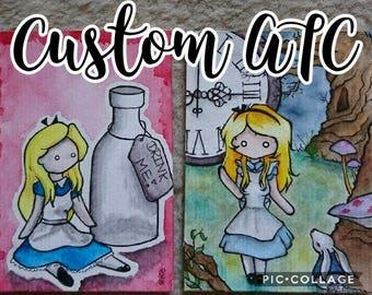 Custom ATC (artist trading card)