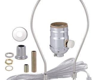 table lamp wiring kit 3 way turn knob socket antique brass etsy rh etsy com