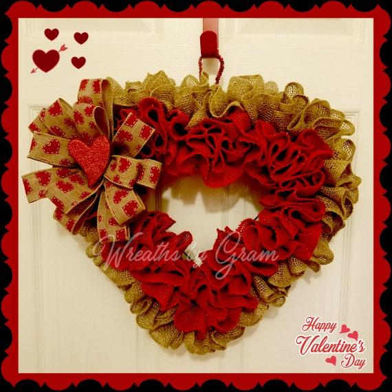 Valentine Wreath Heart Wreath Valentine Decor Rustic Etsy