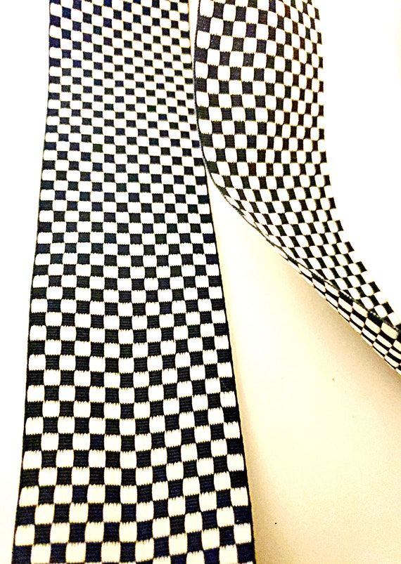 """5 yards 2 1//4/"""" Navy White Stripes Monarch Woven Grosgrain Ribbon"""