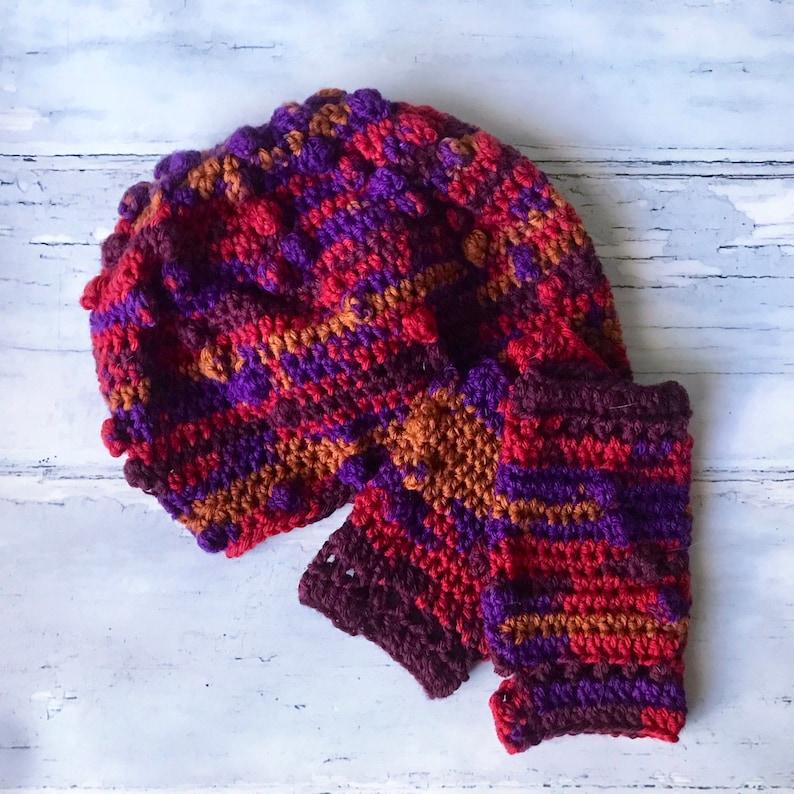 fd508fd9d8 Wool hat Winter Hats Fingerless Gloves Popcorn Beanie
