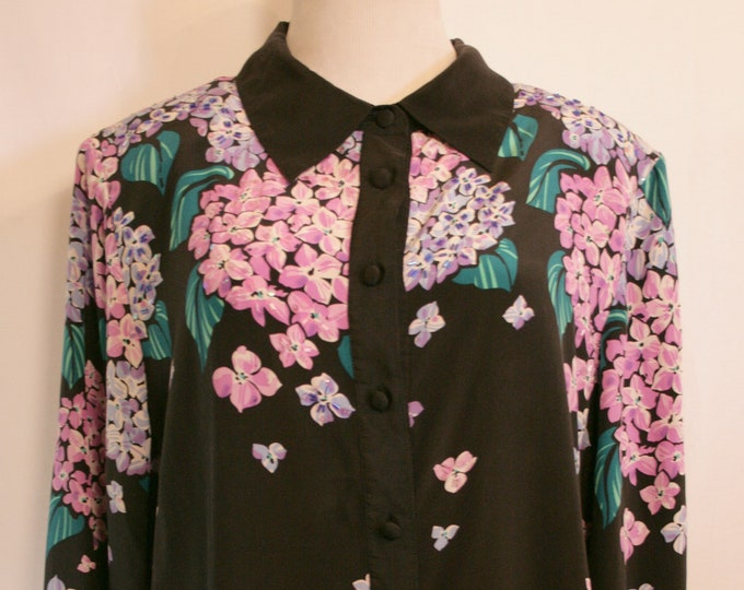 Bob Mackie Wearable Art Floral Blouse