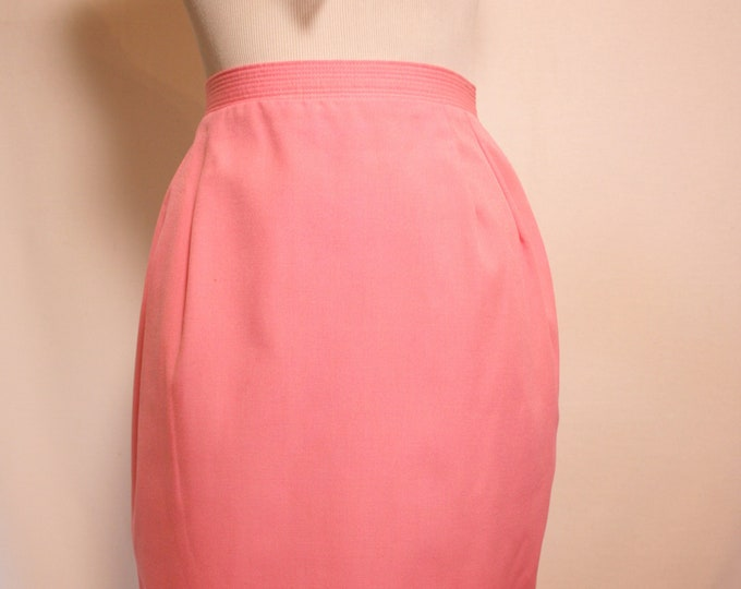 Cotton Candy Pink 60's Pencil Skirt