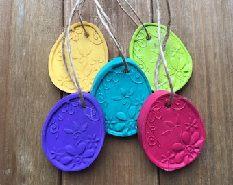 READY TO SHIP, set of 5 Easter egg ornaments, easter tree decorations, spring decor
