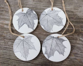 Maple leaf ornaments, botanical ornaments, gifts for gardeners, natural decor, natural ornament, leaf ornament, christmas ornament