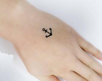 a54edf9ba 10 small anchor temporary tattoos / finger tattoos / finger temporary tattoo  set / small temporary tattoos / nautical temporary tattoos