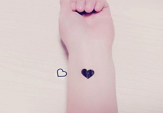 20 Tatuajes Temporales De Pequeño Corazón Corazón Tatuajes Etsy