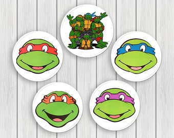 Teenage Mutant Ninja Turtles The Movie - Button Pin