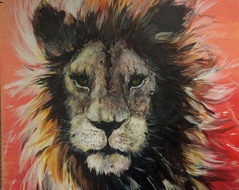 Lion - Original Acrylic Painting