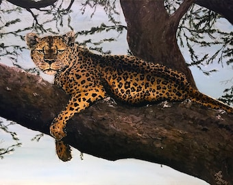 Print of Leopard Painting
