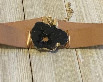 Druzy Choker - Wrap Bracelet