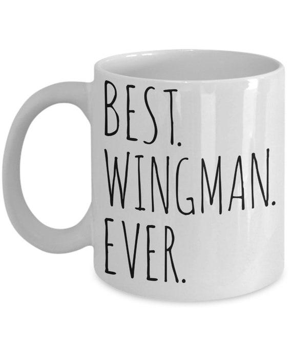 Beste Wingman Ooit Mok Cadeau Idee Beste Vriend Voor Hem Pilot Wingman Kerst Verjaardag Huidige Minimalistische Dank U Geschenk Wingman Koffiekopje