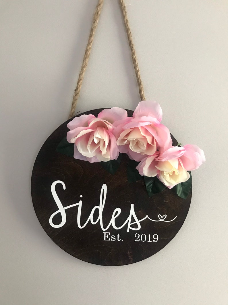 18 inch Wooden Door Sign-Wedding Door Sign-Hanging Door Sign-Personal Gift-Home Decor Sign-Bridal Gift-Bridesmaid gift-Wedding Present-Bride