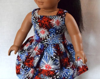 18 Inch Doll Clothes - Firework Double Tier Dress