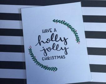 Holly Jolly Christmas Print