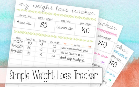 how to track your weight loss