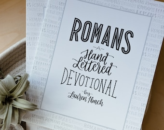 Romans: A Hand Lettered Devotional // Christian gift // bible study // scripture art // devotional // for mom // Easter gift