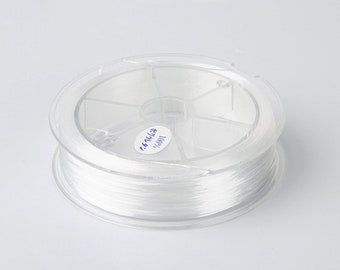 1 Spool - 0.8MM White Elastic Cord / Thread 80 Meters Crystal String