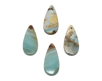 Amazonite Pendant | Natural Gemstone Pendant Focal Bead | Teardrop | Sold by Piece | Size 35x15x2mm | Hole 2mm