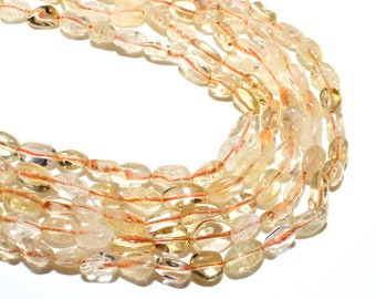 Citrine Nuggets Beads | Grade AAA | Natural Gemstone Loose Beads | Sold by 15 Inch Strand | Size 8~10mm | Hole 0.8mm