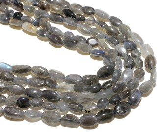 Labradorite Nuggets Beads   Grade AAA   Natural Gemstone Loose Beads   Sold by 15 Inch Strand   Size 8~10mm   Hole 0.8mm