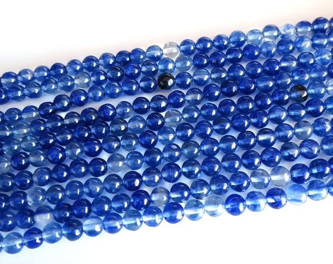 "6mm Blue Watermelon Beads Round Polished Natural Gemstone Loose 15.5"" Full Strand Wholesale"