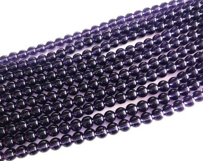 Amethyst Beads | Purple | Round Beads | Sold by 15 Inch Strand | Size 6mm 8mm 10mm 12mm