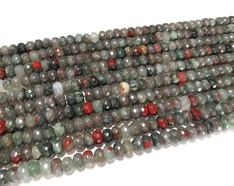 5x8mm African Bloodstone Rondelle Beads Gemstone Loose 15'' Full Strand