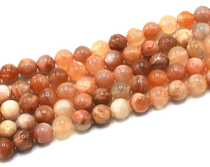 Sunstone Beads   Grade A   Round Natural Gemstone Loose Beads   Sold by Strand   Size 8mm
