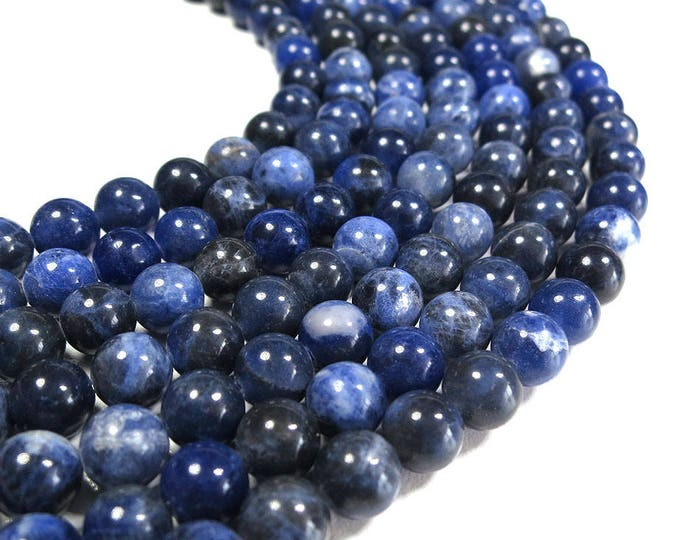 Sodalite Beads | Grade A | Round Natural Gemstone Loose Beads | Sold by Strand | Size 4mm 6mm 8mm 10mm
