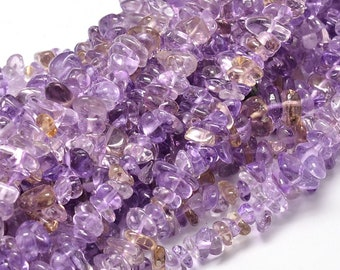 Ametrine Chips Beads | Grade A | Natural Gemstone Loose Beads | Sold by 15 Inch Strand | Size 5~14x4~10mm