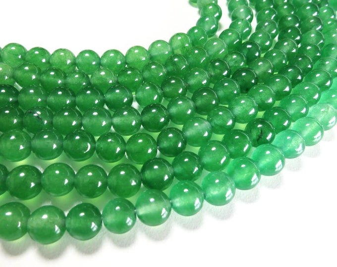 Green Aventurine Beads | Round Natural Gemstone Loose Beads | Sold by Strand | Size 4mm 6mm 8mm 10mm