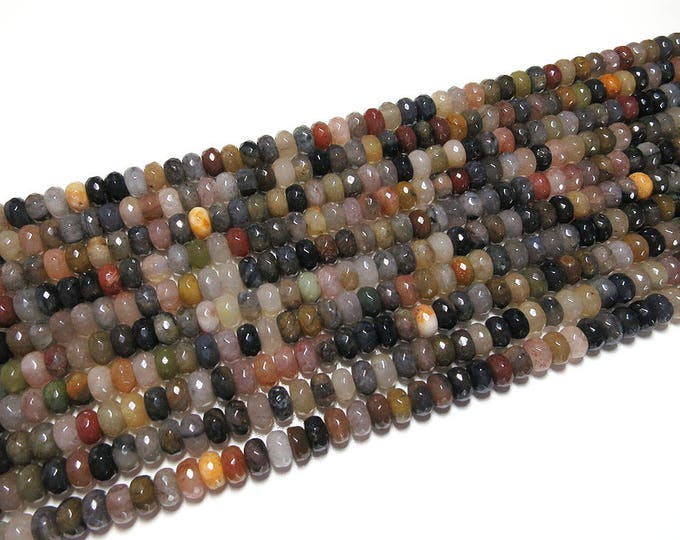 5x8mm Tourmaline Faceted Rondelle Beads Gemstone Loose 15'' Full Strand