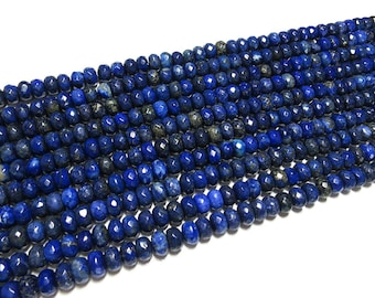 5x8mm Lapis Lazuli Faceted Rondelle Beads Gemstone Loose 15'' Full Strand