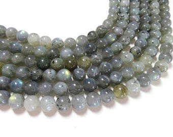 Labradorite Beads | Round Natural Gemstone Loose Beads | Sold by Strand | Size 4mm 6mm 8mm 10mm 12mm