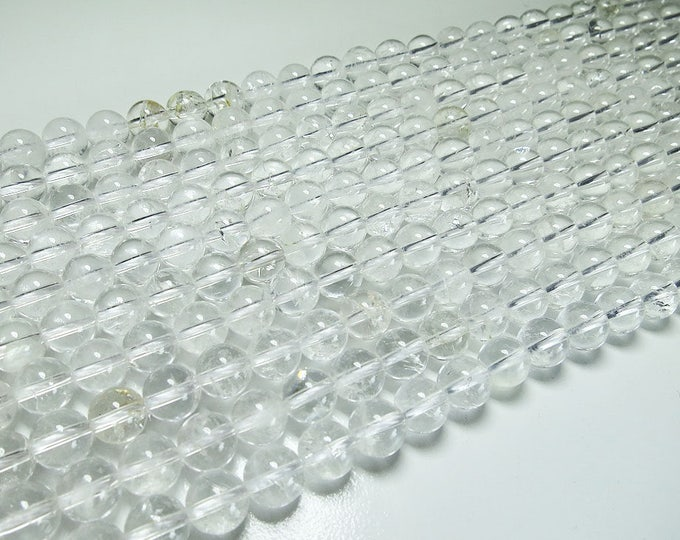 Clear Crystal Quartz Beads 4mm 6mm 8mm 10mm 12mm 14mm Round Natural Gemstone Loose 15.5 inch Full Strand Wholesale