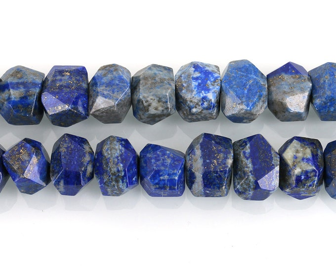 Lapis Lazuli Nuggets Beads   Natural Gemstone Loose Beads   Sold by Lot 5 Beads   Size 9-15x15-21x12-15mm