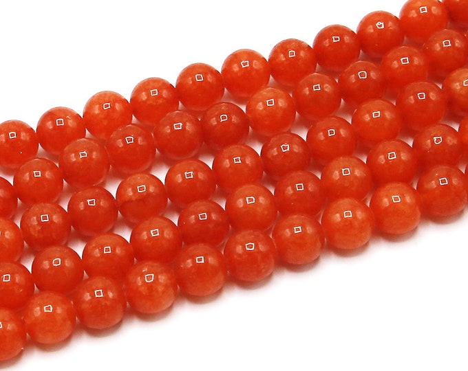 8mm Red Aventurine Beads Round Polished Natural Gemstone Loose 15'' Full Strand Wholesale