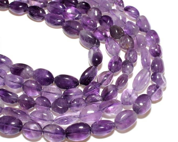 Amethyst Nuggets Beads   Grade A   Natural Gemstone Loose Beads   Sold by 15 inch Strand   Size 8~10mm   Hole 1mm