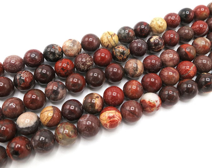 Rainbow Jasper Beads | Round Natural Gemstone Loose Beads | Sold by Strand | Size 4mm 6mm 8mm