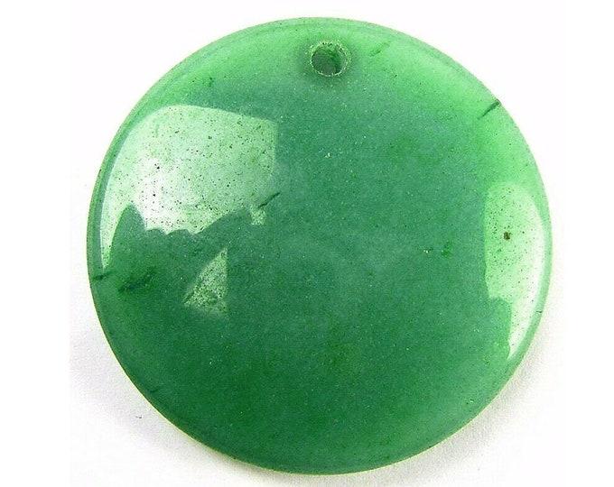 Beautiful Green Aventurine Round Gemstone Pendant Focal Bead 45x11mm B83247