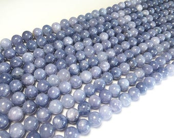 Aquamarine Beads | Round Natural Gemstone Loose Beads | Sold by Strand | 4mm 6mm 8mm 10mm 12mm